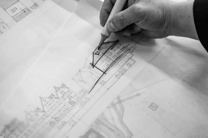 JW Architekten Plan mit Zeichnung