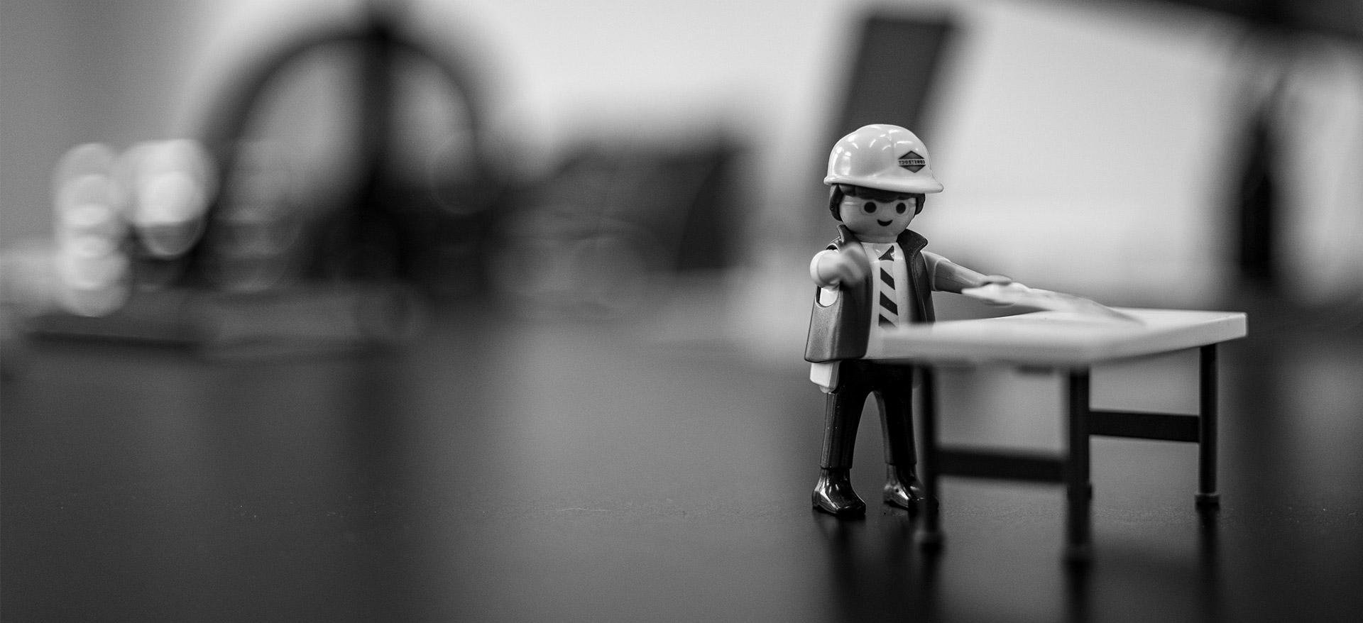 Playmobil-Männchen Bauleiter